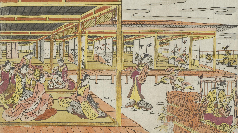 Japanese Art Print Mongaku Shonin Under the Waterfall