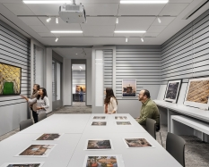Inside one of three smart study galleries within the Bernstein Center for Object Study. Photograph © Michael Moran.