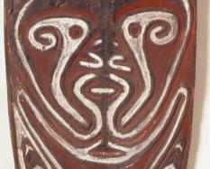 Ancestral Board (Gope; kwoi or kohe), 20th century, wood, natural pigments (red, white, and black). Hood Museum of Art, Dartmouth College: Harry A. Franklin Family Collection; 990.54.27253.