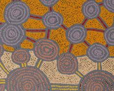 Raymond Tjapaltjarri, Australian (Pintupi), born 1967, Litjardi (detail), 2005, acrylic on canvas. Hood Museum of Art, Dartmouth College: Gift of Will Owen and Harvey Wagner; 2009.92.274