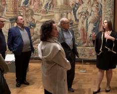 Members of the Director's Circle on a private tour of the Detroit Institute of Arts' European collection in October 2019.