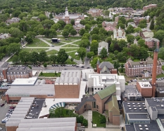 Aerial view of the Dartmouth campus. Photograph copyright Michael Moran.