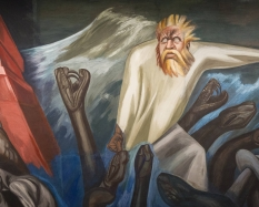 Detail from José Clemente Orozco, The Epic of American Civilization: The Departure of Quetzalcoatl (Panel 7), 1932-34, fresco. Hood Museum of Art, Dartmouth College: Commissioned by the Trustees of Dartmouth College; P.943.13.7. Photo by Eli Burakian '00