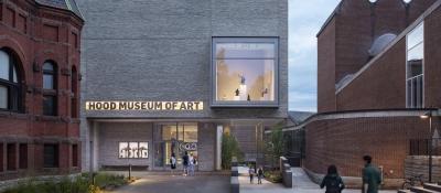The Hood Museum of Art at Dusk. Photograph copyright Michael Moran.