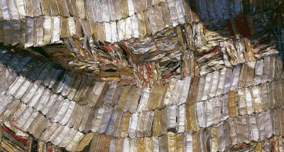 "A detail of El Anatsui's ""Hovor."""