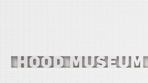"Rendering of exterior signage, with new ""Hood Museum of Art"" wordmark."