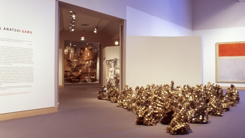 El Anatsui: GAWU featured visually stunning sculptures by the artist that were made from recycled materials.