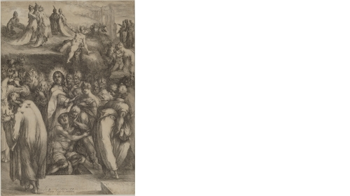 Jacques Bellange, The Raising of Lazarus, about 1612–16, etching and engraving, only state. Purchased through the Jean and Adolph Weil Jr. 1935 Fund, the Class of 1935 Memorial Fund, and the Olivia H. Parker and John O. Parker '58 Acquisition Fund; 2012.4