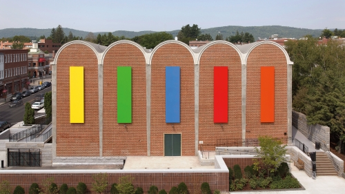 Ellsworth Kelly, Dartmouth Panels, 2012, painted aluminum. Gift of Debra and Leon Black, Class of 1973; 2012.35. Photo by Eli Burakian.