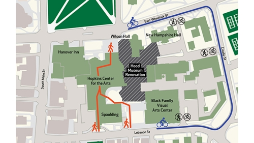 Hood detour map.