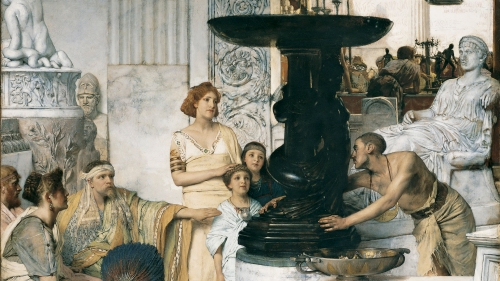 Sir Lawrence Alma-Tadema, The Sculpture Gallery, 1874, oil on canvas. Gift of Arthur M. Loew, Class of 1921A; P.961.125