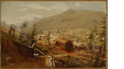 Attributed to William Hart, Tannery in the Catskills, early 1850s, oil on canvas. Purchased through gifts from the Class of 1955 in honor of their sixtieth reunion; 2015.25.