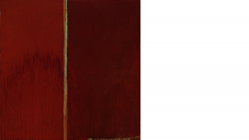 Pat Steir, Red and Red, 2014, oil on canvas. Purchased through the Florence and Lansing Porter Moore 1937 Fund, the Virginia and Preston T. Kelsey '58 Fund, the William S. Rubin Fund, and through a gift from Mr. and Mrs. Joseph H. Hazen, by exchange; 2014