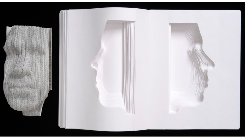 Nicholas Galanin, What Have We Become? Vol. 3 & 5a, paper sculpture, 2007.