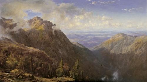 Régis François Gignoux, New Hampshire (White Mountain Landscape), about 1864, oil on canvas