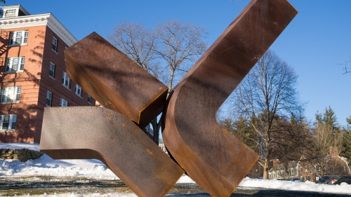 """Perdido,"" a 1978 sculpture by Clement Meadmore"