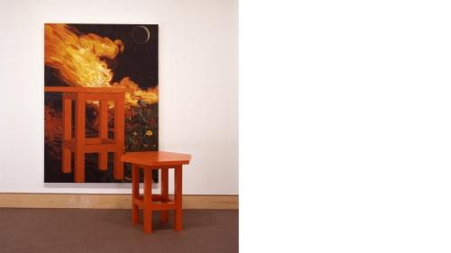 Jennifer Losch Bartlett, Fire Table I, 1989, enamel on wood, Gift of Sondra Gilman and Celso M. Gonzalez-Falla; S.990.3A. © Jennifer Losch Bartlett.