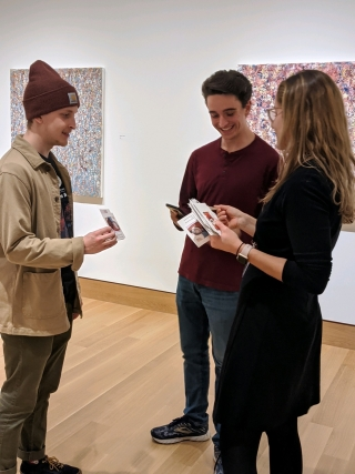 Undergraduate Advisors (UGA) visit the galleries and play a riddle hunt activity during one of their weekly meetings.