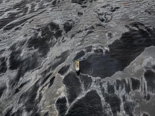 Edward Burtynsky, Oil Spill #1