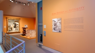 The exhibitionAlma-Tadema and Antiquity:Imagining Classical Sculpture in Late-Nineteenth-Century Britaininstalled in Harrington Gallery. Photo by Jeffrey Nintzel.