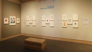 """The Art of Sonia Landy Sheridan"" installed in the Hood Museum of Art's galleries. Photo by Jeffrey Nintzel."