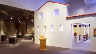 """The exhibition """"Coming of Age in Ancient Greece"""" installed in the Hood Museum's Lathrop, Jaffe, and Hall Galleries. Photo by Jeffrey Nintzel."""