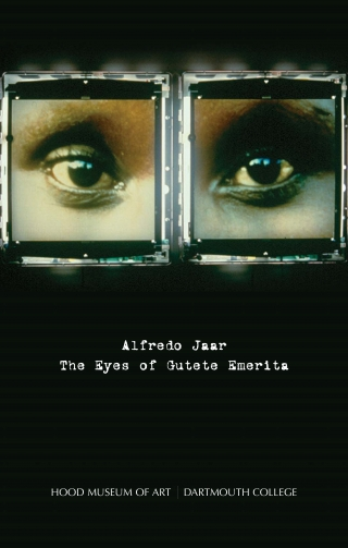 "Cover of the exhibition brochure for ""Alfredo Jaar: The Eyes of Gutete Emerita"" on view July 8 through September 3, 2006."