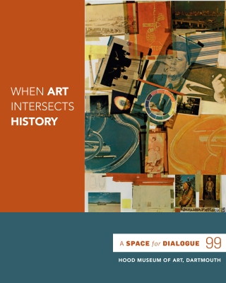 "Cover of ""A Space for Dialogue Brochure"" 99 ""When Art Intersects History""."