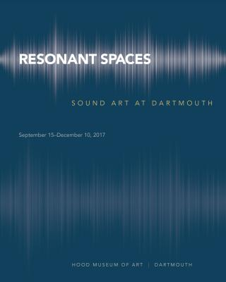 Cover of the Resonant Spaces exhibition brochure.