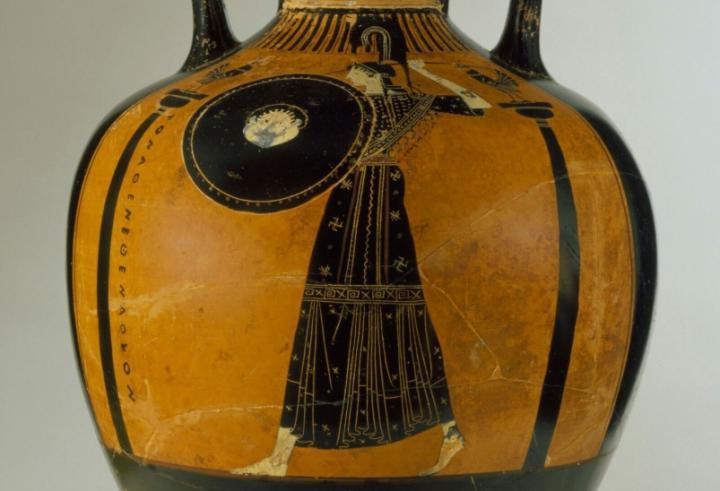 Panathenaic Amphora, Attributed to the Berlin Painter