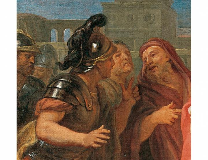 Detail, Alexander and Diogenes by Louis de Silvestre