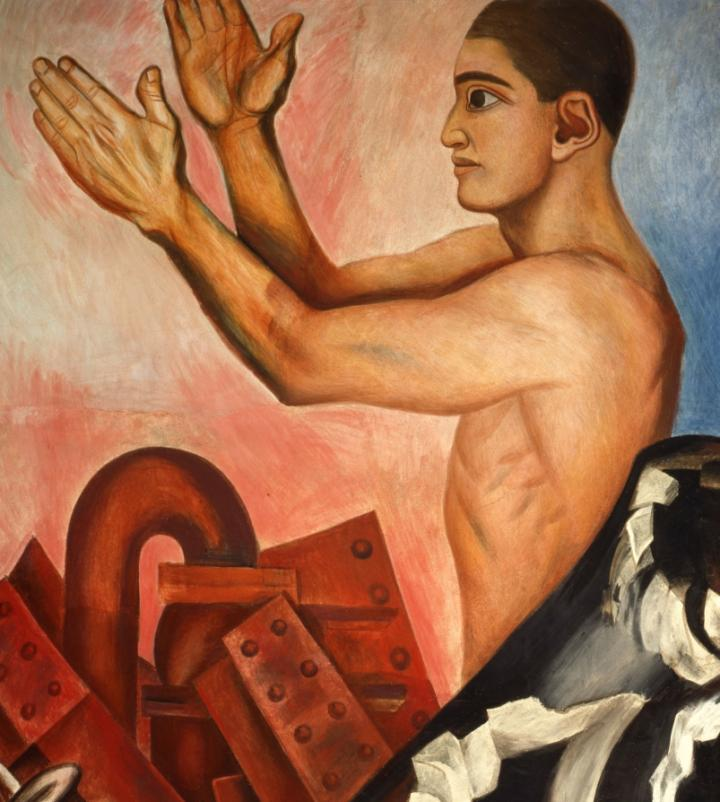 A detail of a 1932 fresco by José Clemente Orozco