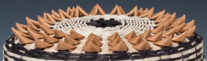 Detail, Wabanaki Basket, Point Basket by Ganessa Bryant, Penobscot