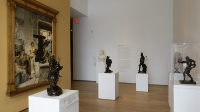 The exhibition Emulating Antiquity: Nineteenth-Century European Sculpture installed in Engles Gallery. Photo by Jeffrey Nintzel.