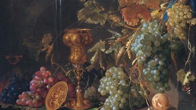 Jan Davidsz. De Heem, Dutch, 1606 - 1684, Still Life with Grapes (detail), about 1660, oil on canvas.