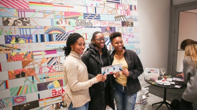 Dartmouth Students at Student Opening Artmaking Station
