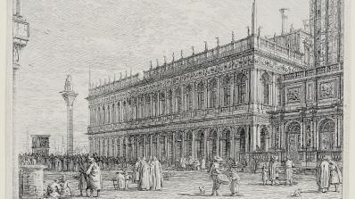 Giovanni Antonio Canal (Canaletto), La Libreria. V. (The Library, Venice)