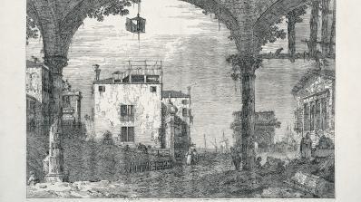 Giovanni Antonio Canal (Canaletto), The Portico with the Lantern
