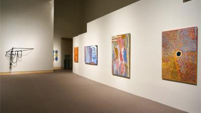 Contemporary Abstraction installed at the Hood Museum of Art