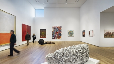 An installation of postwar collection highlights in the Hood's new Northeast Gallery. Photograph © Michael Moran.