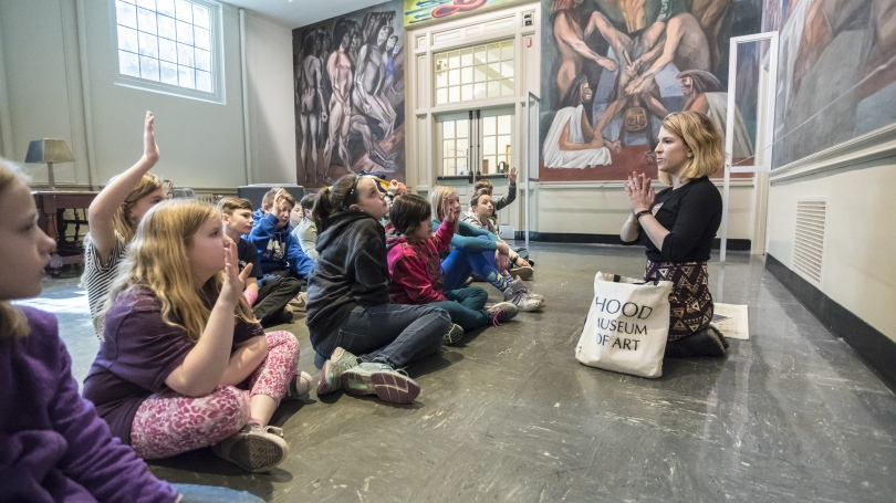 An Images class takes a tour of the Orozco murals.