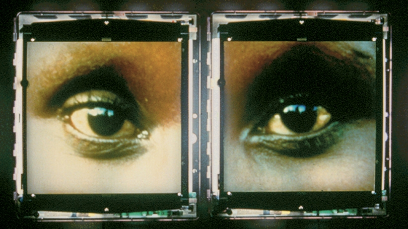Alfredo Jaar, Chilean, born 1956, The Eyes of Gutete Emerita, 1996, digital video.