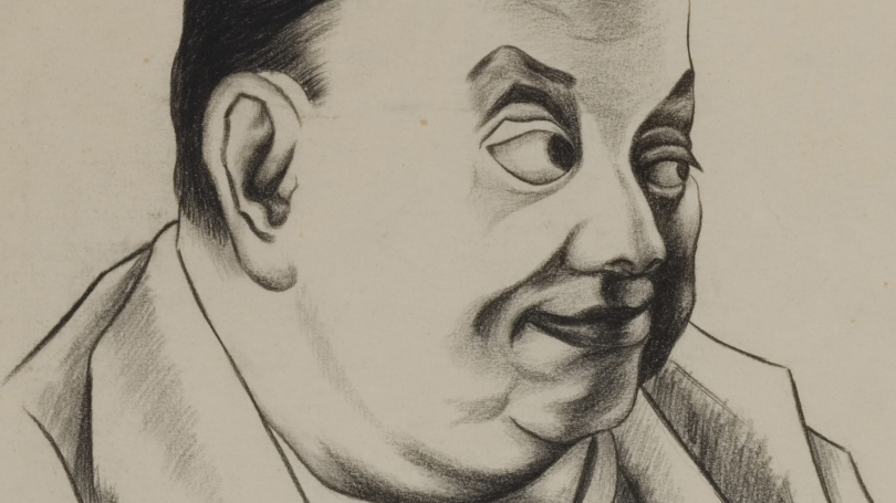 Diego Rivera, Mexican, 1886 - 1957, Self-Portrait (detail), about 1950, charcoal pencil on paper. Hood Museum of Art, Dartmouth: Gift of Marc F. Efron, Class of 1965, and Eric M. Efron; 2013.72.6.