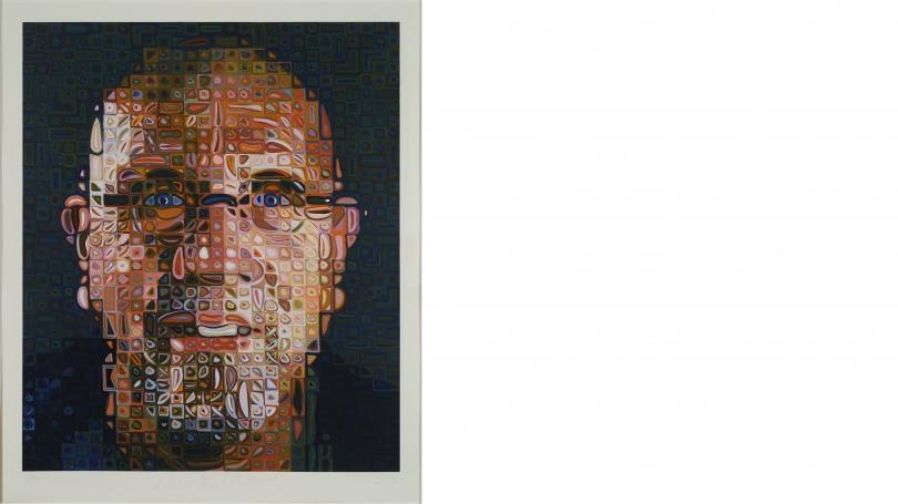 6226 Chuck Close, Self-Portrait Screenprint 2012, in About Face: Self-Portraiture in Contemporary Art.