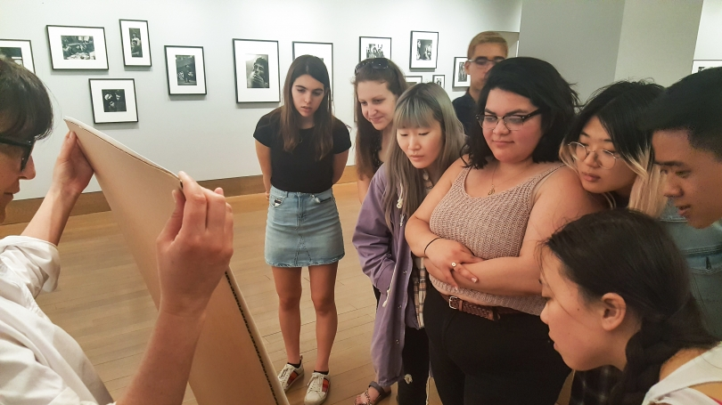 Students at Howard Greenberg Gallery