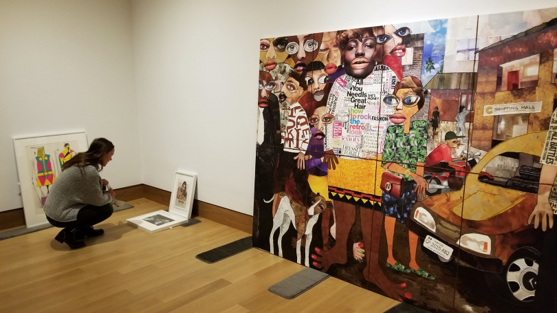 Devon Mifflin '21 lays out her Space for Dialogue exhibition Vision 2020: What do you see?