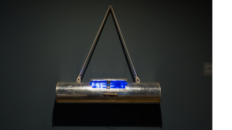 Fig. 25. Terry Adkins, Vasculum, 2013, displayed at Hood Downtown. Photo by Joseph Beaudoin.