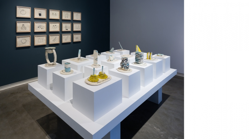 Fig. 31. Christine Sun Kim, The Grid of Prefixed Acousmatics, 2017 in the Strauss Gallery, Hopkins Center for the Arts. Photo by Joseph Beaudoin.