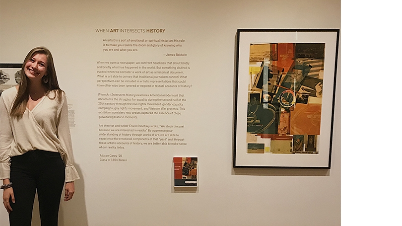 Allie Carey '20 with SFD exhibition