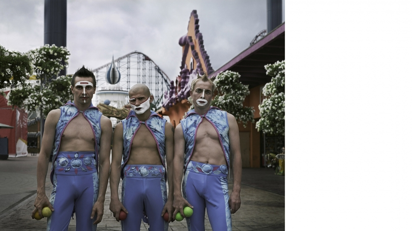 Anderson & Low, Sergey, Alexander, and Viatcheslav, Clowns, 2006, gelatin silver print, printed 2007. Hood Museum of Art, Dartmouth College: Gift of Nancy and Thomas F. O'Neil, Class of 1979; 2014.66.4. © Anderson & Low